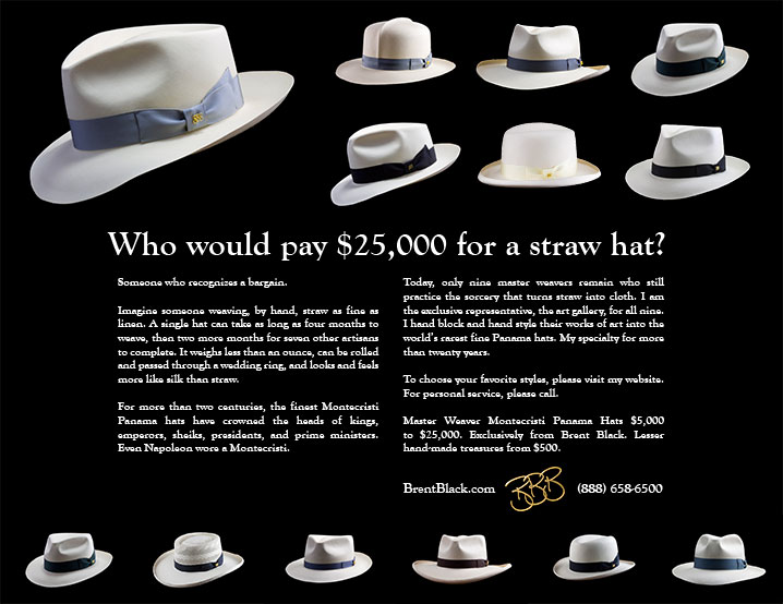 Who would pay $25,000 for a straw hat?