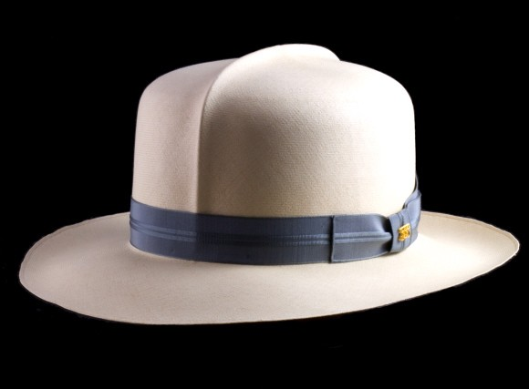 A fine hat in the Optimo style -- but not the $100,000 panama hat.