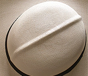 Foldable genuine Panama hat - top
