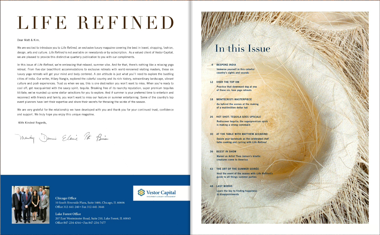 Brent Black Featured in Life Refined Magazine