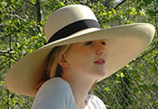 Beach and Garden Hat Styles Brent Black Panama Hats