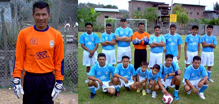Brent Black sponsors Team Superfinos -- Pile's soccer team with Simon, the best weaver in the world, as its goalie.