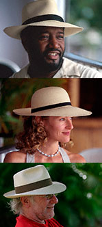 Stack of Three Fashion Images showing people wearing Panama hats