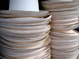 Stacks of Unblocked Montecristi Panama Hats