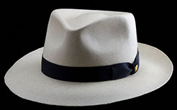 $1,000 Panama Hat blocked in the Classic Fedora style.