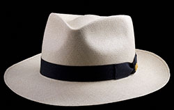 $475 Panama Hat blocked in the Classic Fedora style.