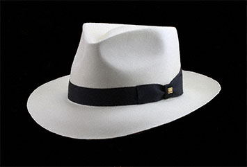 A Very Fine Panama Hat Blocked in a Classic Fedora Style