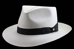 $25,000 Panama Hat blocked in the Classic Fedora style.