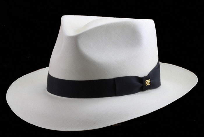 The Blocker Shapes and Styles the Hats — Brent Black Panama Hats 0afe41e22e7d
