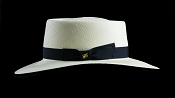 Bahama Beach Blanco genuine Panama hat - side view