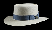Bahama Beach Blanco genuine Panama hat - blue ribbon