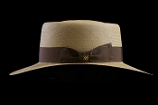 Bahama Beach Cocoa genuine Panama hat - side view