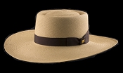 Bahama Beach Cocoa genuine Panama hat - brown ribbon
