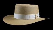 Bahama Beach Cocoa genuine Panama hat - ivory ribbon