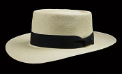 Beach Porkpie Blanco genuine Panama hat