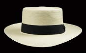 Beach Porkpie Blanco genuine Panama hat - front view