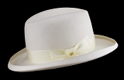 Homburg genuine Panama hat - light ribbon