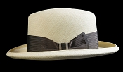 Homburg genuine Panama hat - cark ribbon