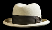 Homburg genuine Panama hat - black view