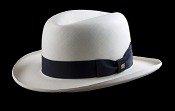 Homburg genuine Panama hat - blue ribbon