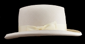 Homburg genuine Panama hat - side view light ribbon