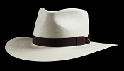 Kentucky Smith Blanco genuine Panama hat - black ribbon