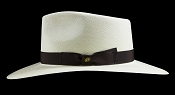 Kentucky Smith Blanco genuine Panama hat - Havana brown ribbon side view