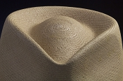 Kentucky Smith Cocoa genuine Panama hat - crown close up