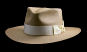 Kentucky Smith Cocoa genuine Panama hat - ivory ribbon