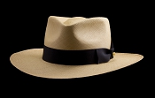 Kentucky Smith Cocoa genuine Panama hat - black ribbon
