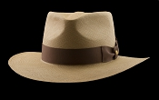 Kentucky Smith Cocoa genuine Panama hat - Jamaica brown ribbon