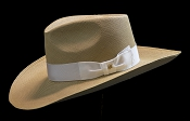 Lady West SE Cocoa genuine Panama hat - front view