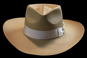 Lady West SE Cocoa genuine Panama hat - top view