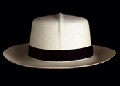 Foldable genuine Panama hat - front view