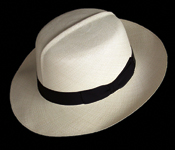 Foldable genuine Panama hat