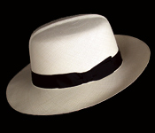 Foldable genuine Panama hat - side view