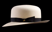 $1000 Montecristi Foldable Panama Hat - Side View