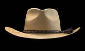 West Panama SE Cocoa genuine Panama hat - back view