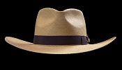 West Panama SE Cocoa genuine Panama hat - front view