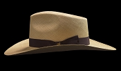 West Panama SE Cocoa genuine Panama hat - size view