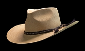 West Panama SE Cocoa genuine Panama hat - angled view