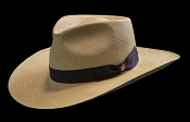 West Panama SE Cocoa genuine Panama hat - angled