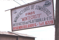 Montecristi Panama hat sign